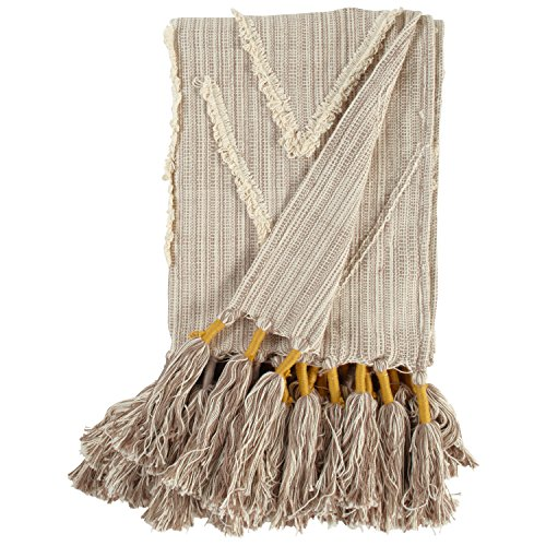 Stone & Beam 100% Cotton Global Throw With Tassels ()