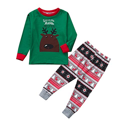 Christmas Pyjamas Family Plus Size Men Women Kids Baby Boys Girls Deer  Blouse Pants Xmas Pjs Matching Set d19898bcd