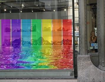 coloured window film glass window mural rainbow coloured window sticker film tattoo glass art décor amazoncom