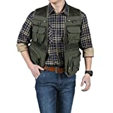 Shimmery Mens Casual Work Utility Hunting Fishing Vest Travels Sports Mesh Jacket With Multi-Pockets