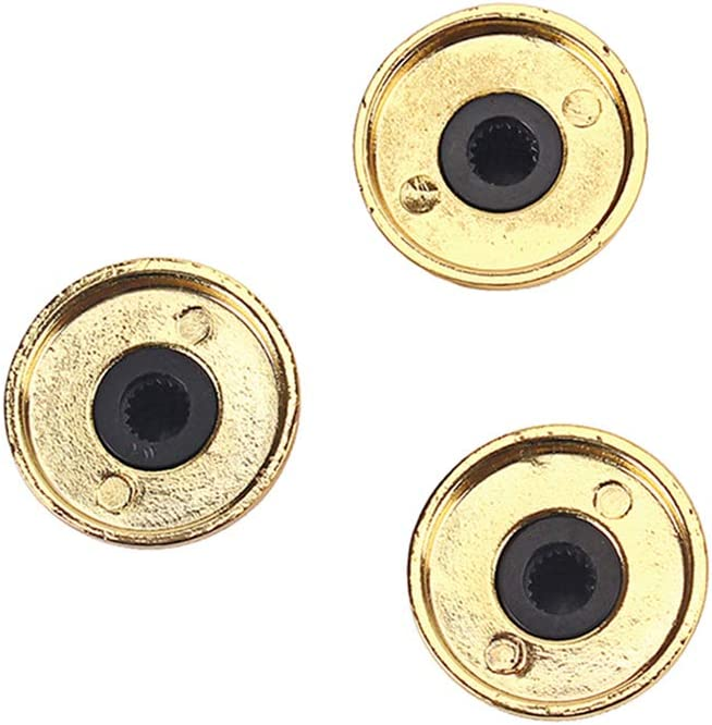 SUPVOX Guitar bass tone volume electronic control knobs cap with wrench golden