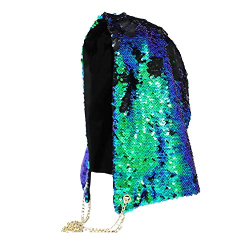 Party Hats Mermaid Festival Hoodie Clubwear Costume Fashion Reversible Sequin Hood Rave Hood Halloween Xmas Magic Music Sequins Hippie Hood Caps Rave Hood Spirit Hood Clothing Cap Party Bling ()