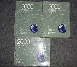 2000 ford windstar mini van service shop repair manual set oem rh amazon com Repair Manuals Parts Manual