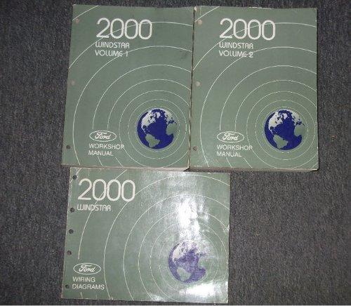 - 2000 Ford Windstar MINI VAN Service Shop Repair Manual Set OEM FACTORY (2 volume set, and the electrical wiring diagrams manual.)