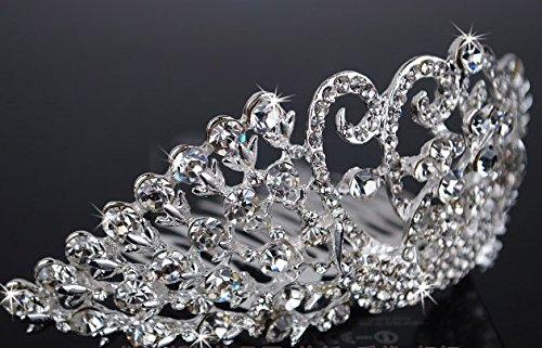 European Luxury Princess Lady Bride Bridal Wedding Decoration Comb Crown Rhinestone Tiara Hair Wear Wedding Accessories Pearl Jewelry Headdress Headwear -4