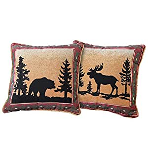 Throw Pillows Meaning : Amazon.com: Reversible Northwoods Lodge Throw Pillow: Home & Kitchen