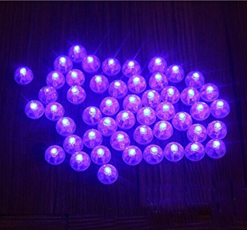 Neo LOONS 50pcs/lot 50 X Blue Round Led Flash Ball Lamp Balloon Light long standby time for Paper Lantern Balloon Light Party Wedding Decoration