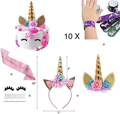 Amazon.com: Juego de decoración para tartas de unicornio ...