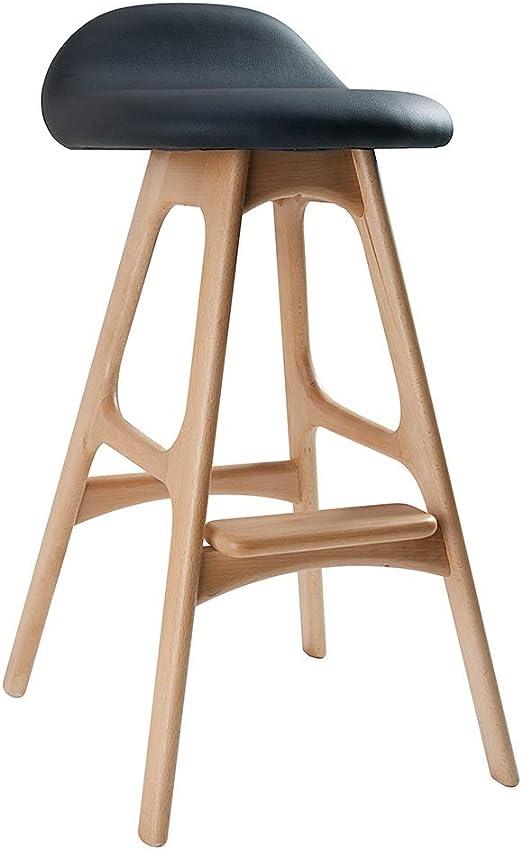 2 x Bar stools £99.99 Bar Stool Wooden legs Sturdy Breakfast Kitchen Dining.