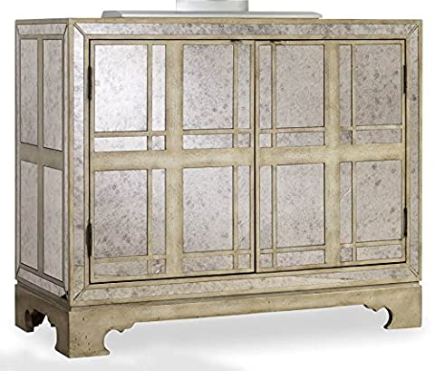 Hooker Furniture MÃlange Mirrored Plaid Chest - Mirrored Set China Cabinet