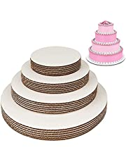 White Round Greaseproof Cake Boards - Cake Circle Base, 6/8/10/12 inch, 5 of Each Size