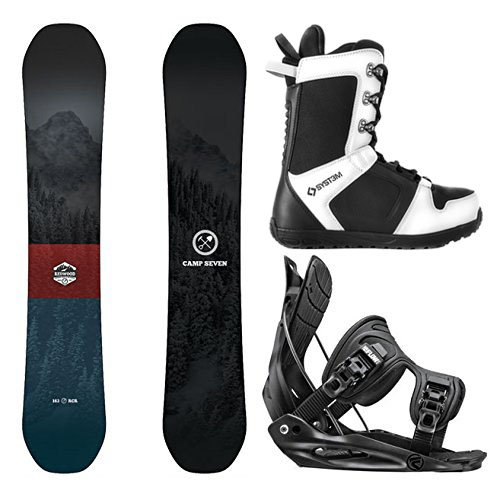 8cc6d2bcaf7 Camp Seven Package Redwood Snowboard-153 cm-Flow Alpha MTN Large-System APX  Snowboard Boots 9