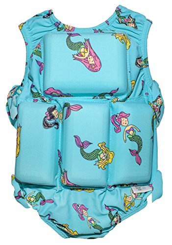 Girls Floating Bathing Suit Flotation Swimsuit X-small, Small, Medium, Large Avaliable in Palm Tree,Sunglasses & Tie Dye Patterns (Small, - And Suit Sunglasses