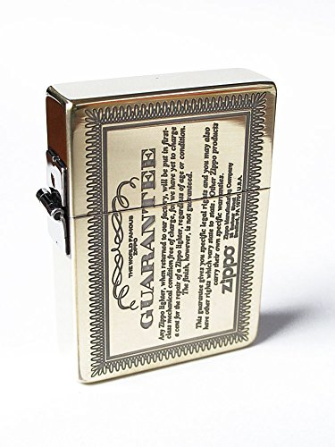 Zippo 1935 Replica Guarantee Card Design Antique Brass Etching Japan Limited (Antique Zippo Brass)