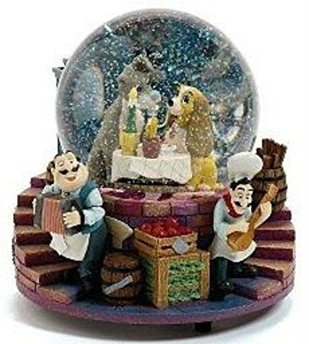 Bambi Sculpture - Lady and the Tramp At Tony's Snow Globe