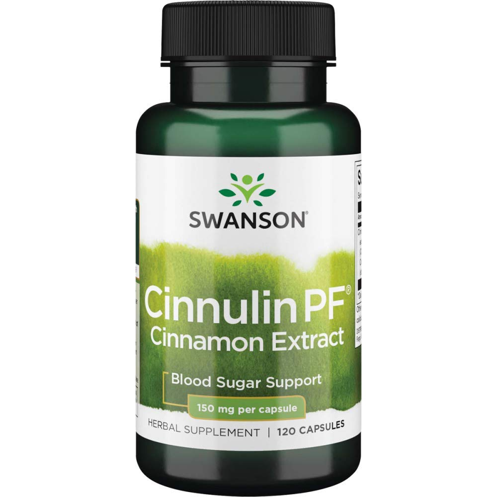 Swanson Cinnulin Pf Cinnamon Extract 150 Milligrams 120 Capsules