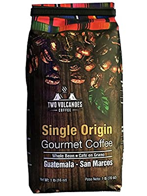 Two Volcanoes Guatemalan Whole Bean Coffee, 1 lb