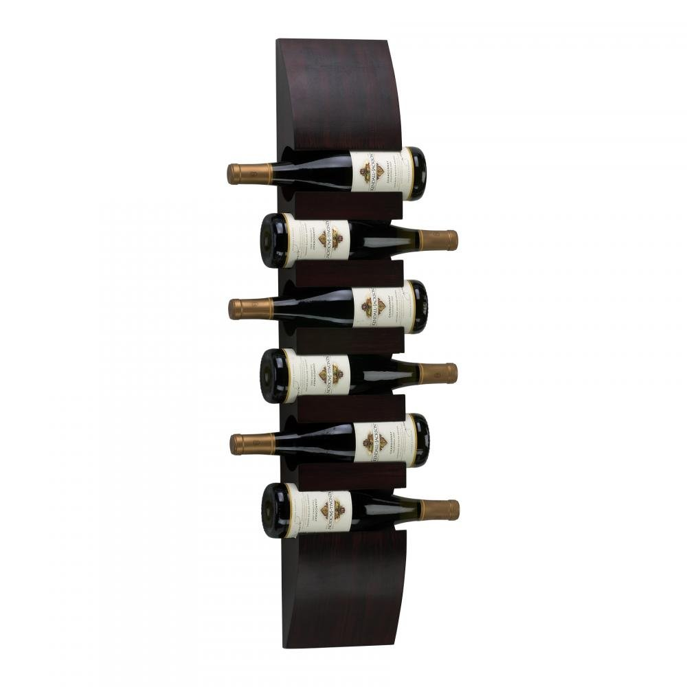 Mahogany 36In. Wall Wine Storage 02797