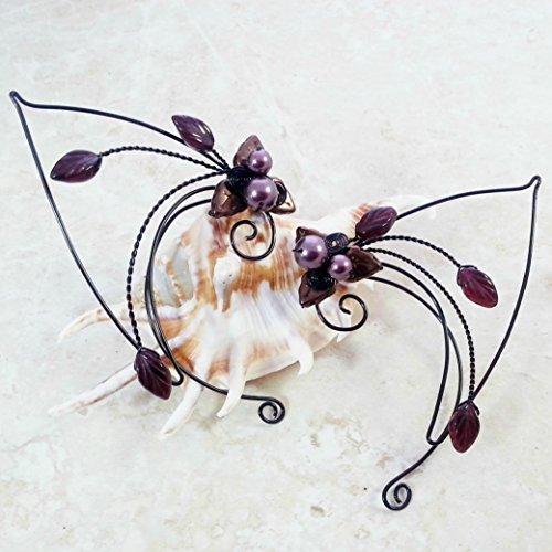 Inara Elf Ear Cuff Wraps Pair - Black Purple Red - No Piercing Required