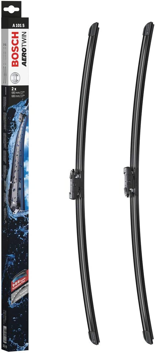 Escobilla limpiaparabrisas Bosch Aerotwin A101S, Longitud: 680mm/680mm – 1 juego para el parabrisas (frontal)