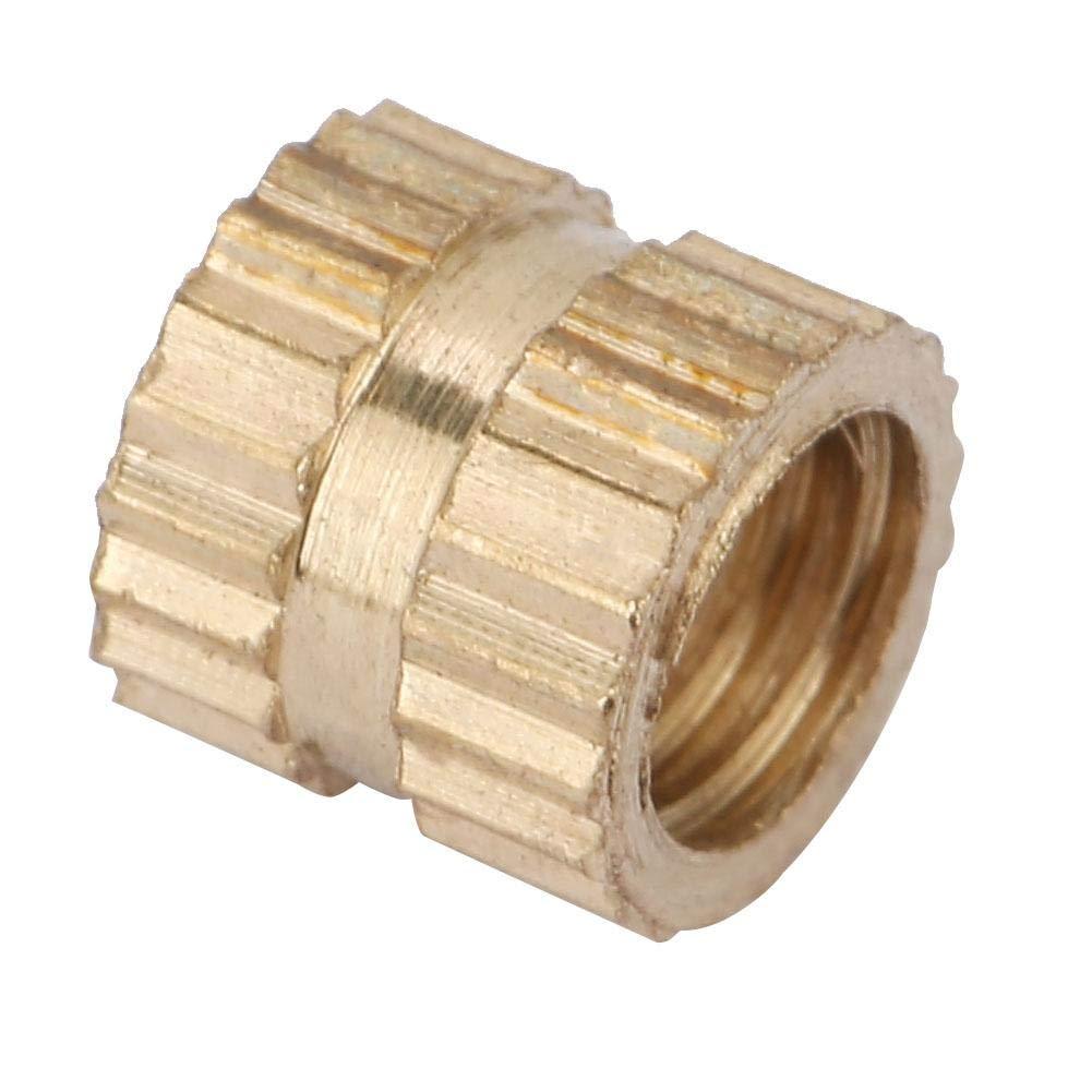 M4*4 * 5.2(50pcs) 50 st/ücke M4 Messing Gewinde R/ändelmuttern Zylinder Ger/ändelt Runde Eingegossene Einlegemuttern