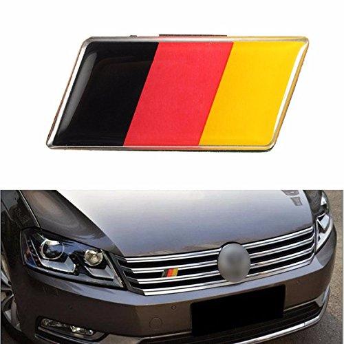 MONNY Universal German Flag Front Grille Bumper Car Sticker Emblem Badge for VW/Audi/Honda/Benz -