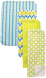 Trend Lab Burp Cloth Set, Levi, 4-Count