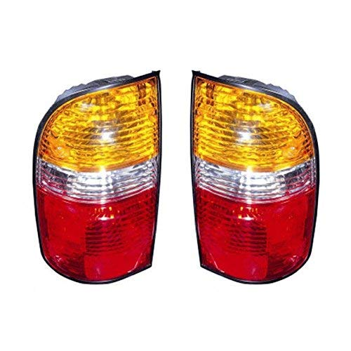 2001-2002-2003-2004 Toyota Tacoma Pickup Truck Taillight Taillamp Rear Brake Tail Light Lamp Pair Set Right Passenger AND Left Driver Side (01 02 03 04)