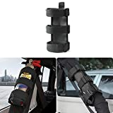 JeCar Adjustable Interior Roll Bar Fire Extinguisher Holder For Jeep Wrangler(Black)