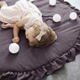 Littleice Baby Kids Game Carpet Gym Activity Play Mat Crawling Blanket Europe Eco-Friendly Cartoon Floor Rug (Gray)