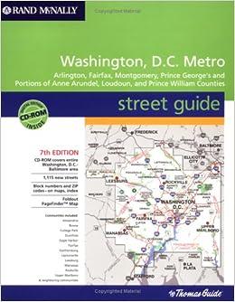 Rand Mcnally Washington D C Metro Street Guide Arlington Fairfax