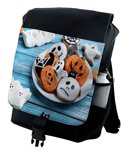 Lunarable Halloween Backpack, Funny Gingerbread Cookies, Durable All-Purpose Bag ()