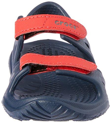 Unisex River Sandal Bambini flame – Kids Aperta Punta Swiftwater navy Crocs 4ba Blu YE45qwq