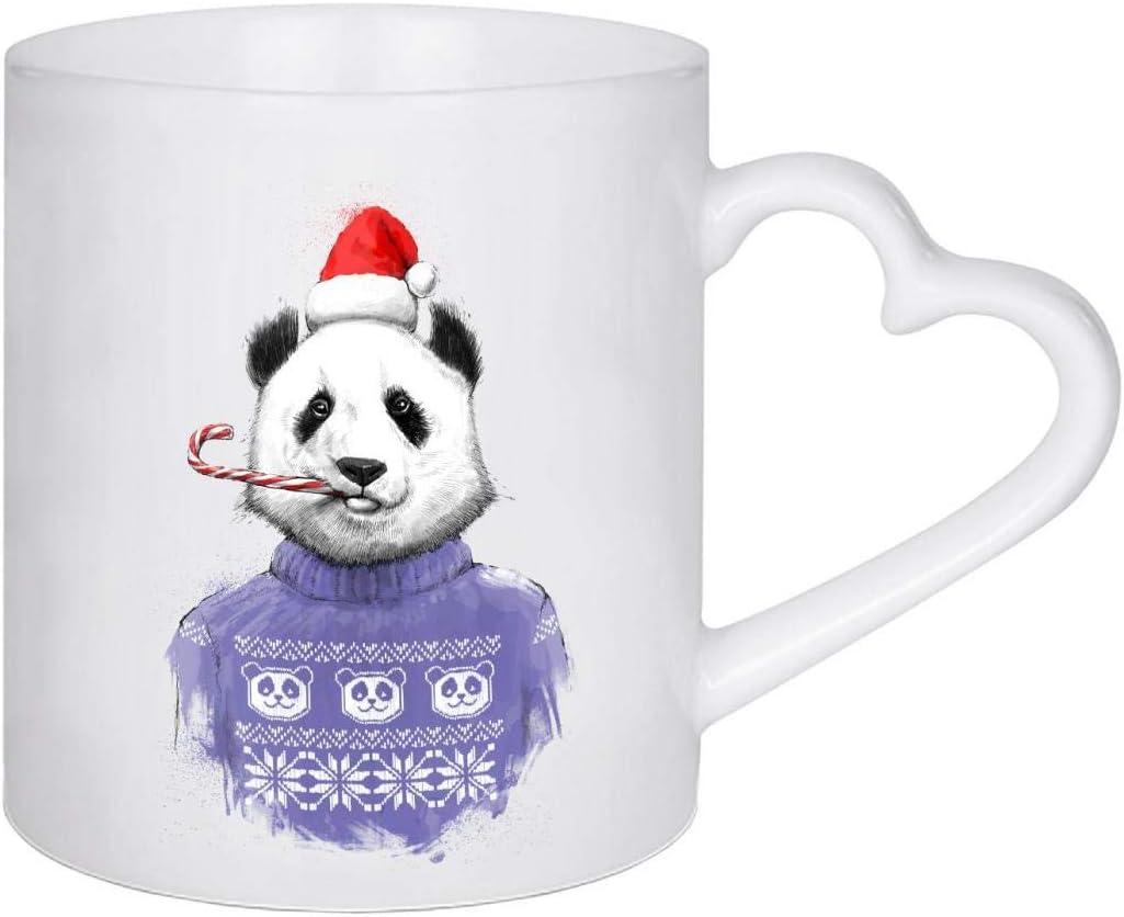 artboxONE Emaille Tasse Christmas Panda von Nikita Korenkov Emaille Becher Tiere