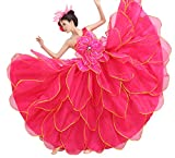 Lemail wig ® Women's Pink Petals Opening Dance Cosplay evening dress