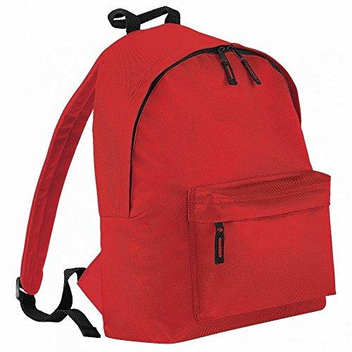 Nero Brillante Litri Bagbase Junior Taglia Unica Zaino 14 Rosso Fashion ZIz8Ix