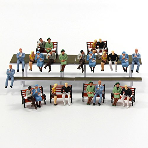 P4802 24 pcs All Seated Figures O scale 1:48 Painted