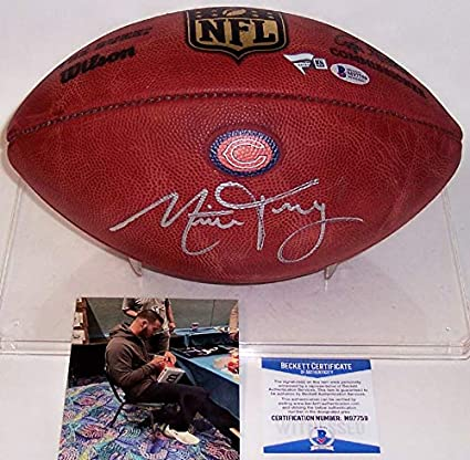 76f5f9b1be9 Mitch Trubisky Autographed Hand Signed Official Wilson Chicago Bears ...