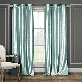 faux silk curtains amazon dusty pink cerise this item duck river textiles grommet pair panel aqua blue