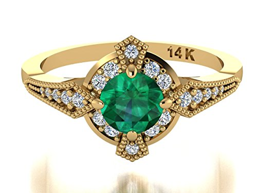 ring and emerald custom diamond fashion rings emrald