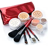 IQ Natural Large Mineral Makeup Kit; 12pc Get Started Set includeds 6pc Brush Set