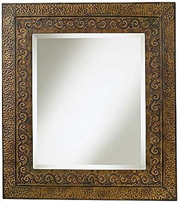 Uttermost Jackson Metal Mirror in Distressed Dark Rust Brown