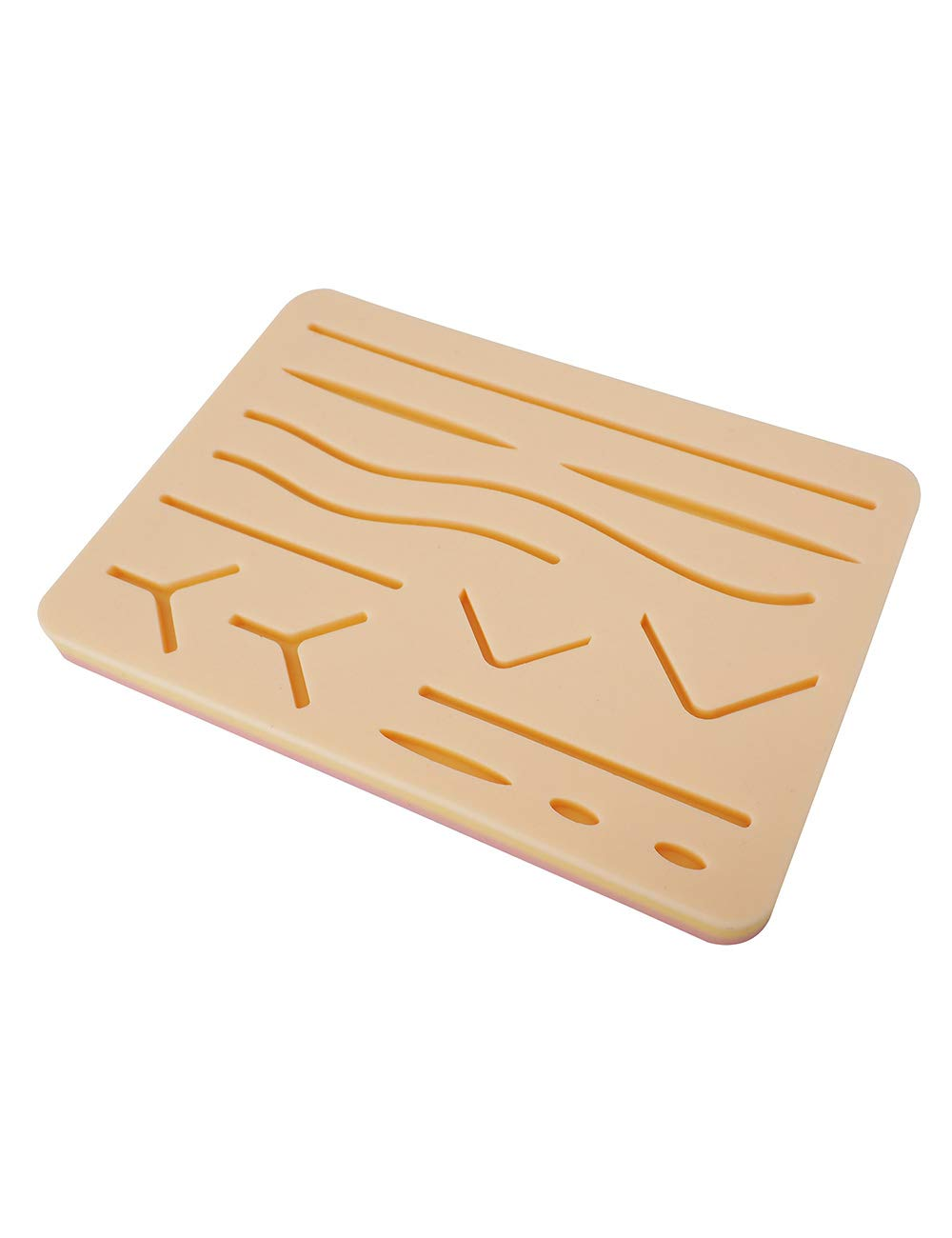 Upgraded Large 3-Layer Suture Pad with Wounds for Practicing Suturing - Not Easily Separate, Tear or Rip (with Anti-Slip Based)