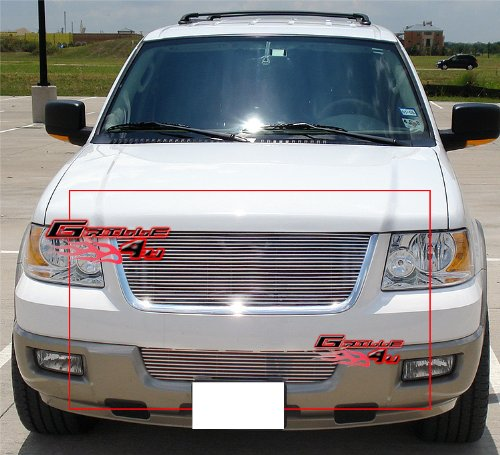 APS Fits 03-06 Ford Expedition Billet Grille Combo Upper+Lower Bumper #F87993A 05 Ford Expedition Billet