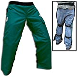 "Forester Chainsaw Safety Chaps with Pocket, Apron Style (Regular 37"", Forest Green)"