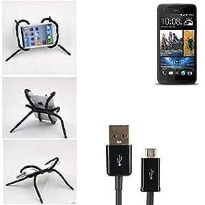 """soporte para coche y para mesa etc. para HTC Butterfly S, negro """"araña"""" cable USB. montaje de la salida aire, espejo retrovisor, bicicletas, etc. Trípode - K-S-Trade (TM)"""