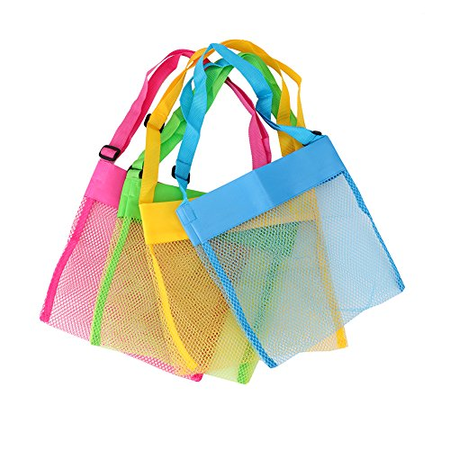 Looching 4pcs Colorful Mesh Children Bench Shell Bag With Adjustable Carrying Straps