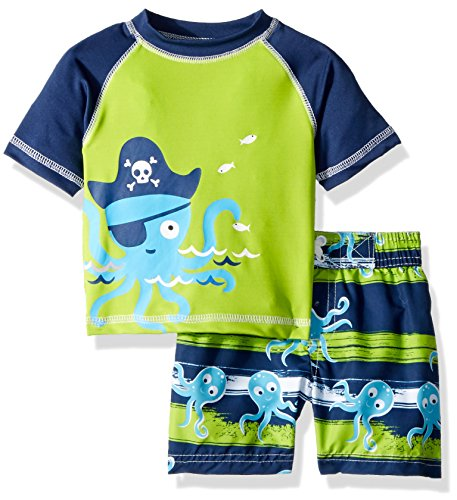 Wippette Boys INF Pelican 2PC Rashguard Set, Octopus Navy, -