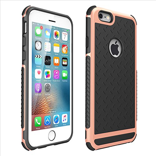 Shockproof Rubber Hybrid Fashion Hard Case Thin Cover For Apple iPhone 8 8 Plus 7 7 Plus 6/6s (plus) (Rose Gold, iPhone 8 Plus)