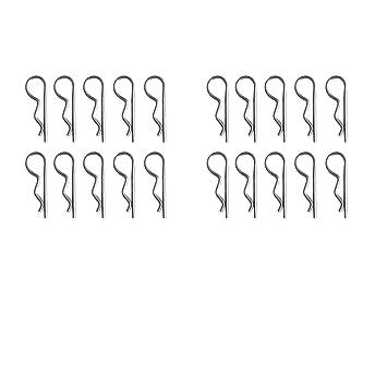 Sharplace 20 Stück R-Clips einfach Federstecker Schlitzstifte ...